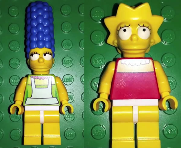Simpsonovci Lego Lisa Marge